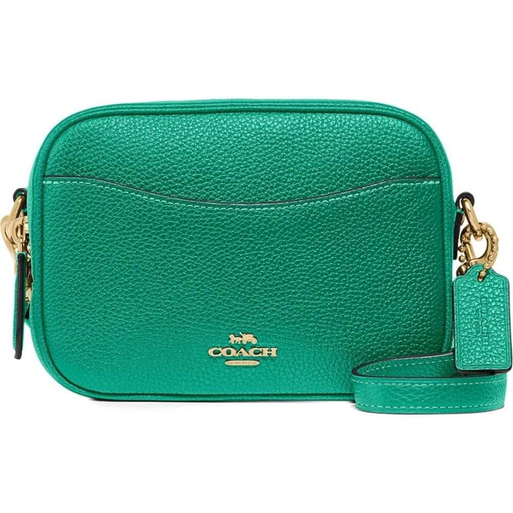 コーチ Coach レディース ショルダーバッグ バッグ【green small leather cross-body bag】Green