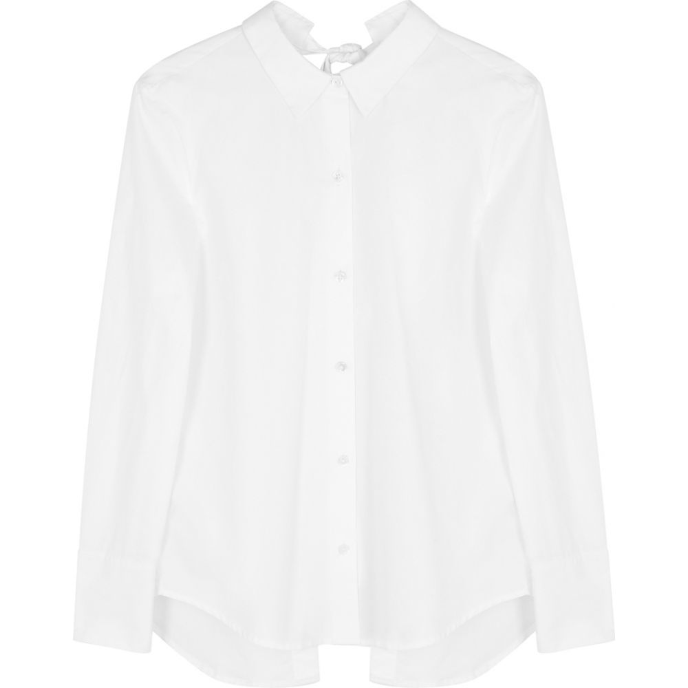 エキプモン white ブラウス・シャツ レディース cotton Equipment shirt】White open-back トップス【charlize