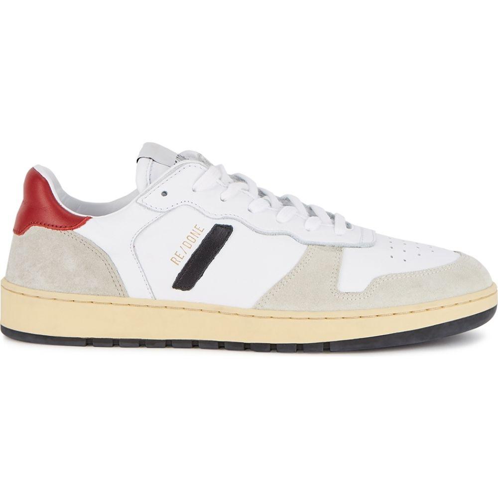 リダン RE/DONE レディース バスケットボール スニーカー シューズ・靴【80s basketball panelled leather sneakers】White