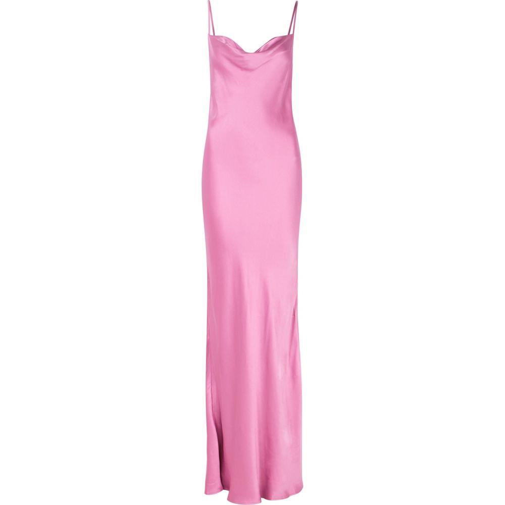 satin dress】Pink maxi & レディース ワンピース・ドレス【lucie マキシ丈 ブリッジ pink Bec ベック ワンピース アンド Bridge