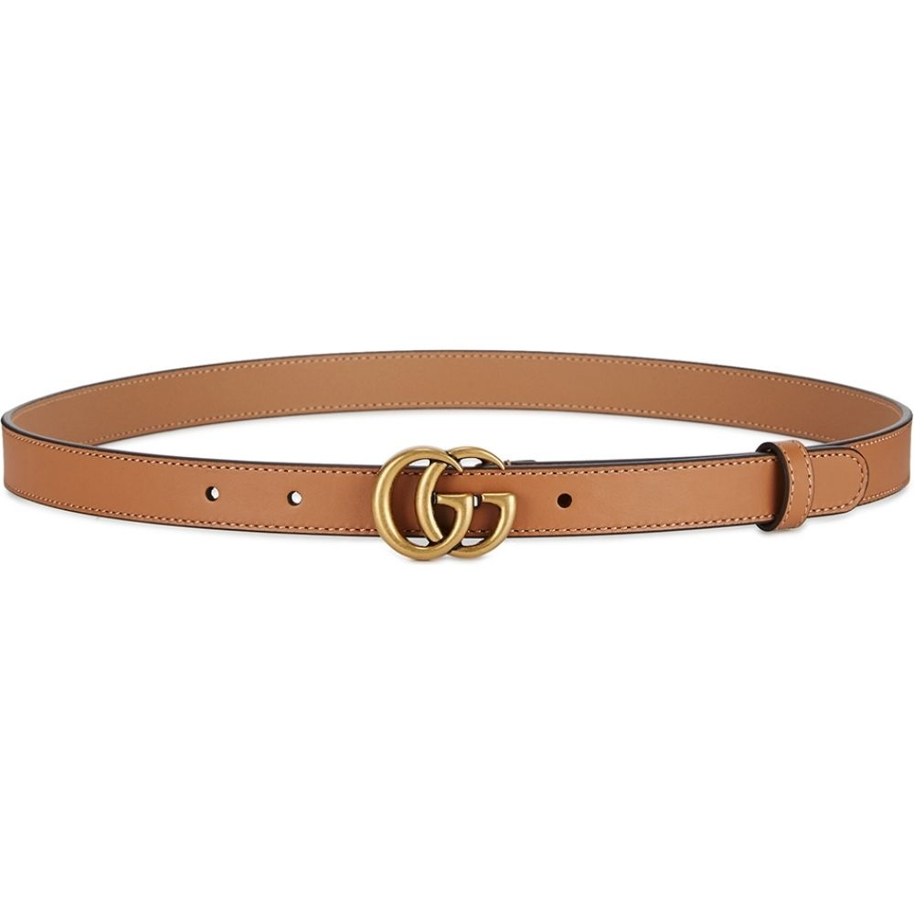 グッチ Gucci レディース ベルト 【gg light brown leather belt】Natural
