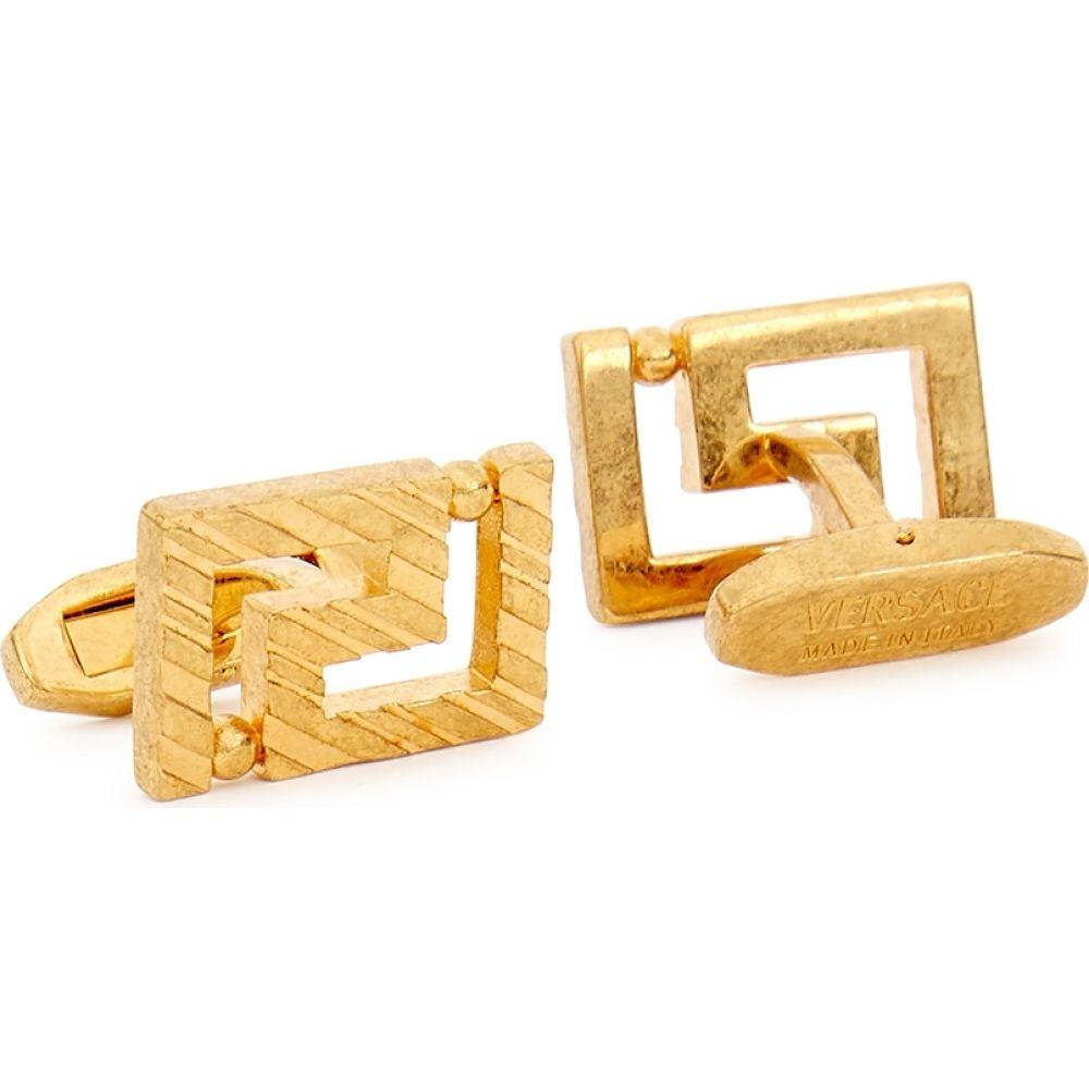 ヴェルサーチ メンズ ファッション小物 カフス カフリンクス サイズ交換無料 Gold gold-tone greco 新作からSALEアイテム等お得な商品満載 cufflinks Versace 大放出セール