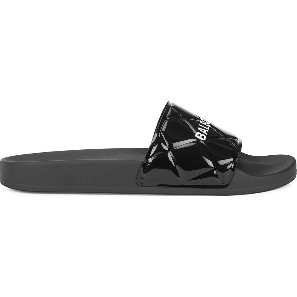 バレンシアガ Balenciaga レディース サンダル・ミュール シューズ・靴【black quilted rubber sliders】Black