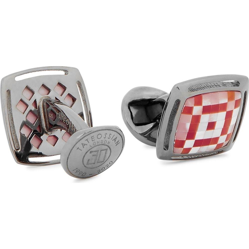 【新品】 タテオシアン Tateossian メンズ カフス Tateossian・カフリンクス【mosaic sterling silver silver sterling cufflinks】Red, サンビジコムshop:5ef95648 --- askamore.com
