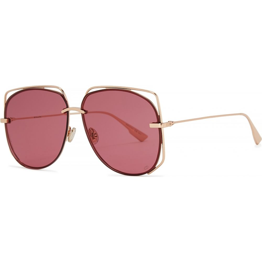 クリスチャン ディオール Dior レディース メガネ・サングラス 【diorstellaire6 oval-frame sunglasses】Pink