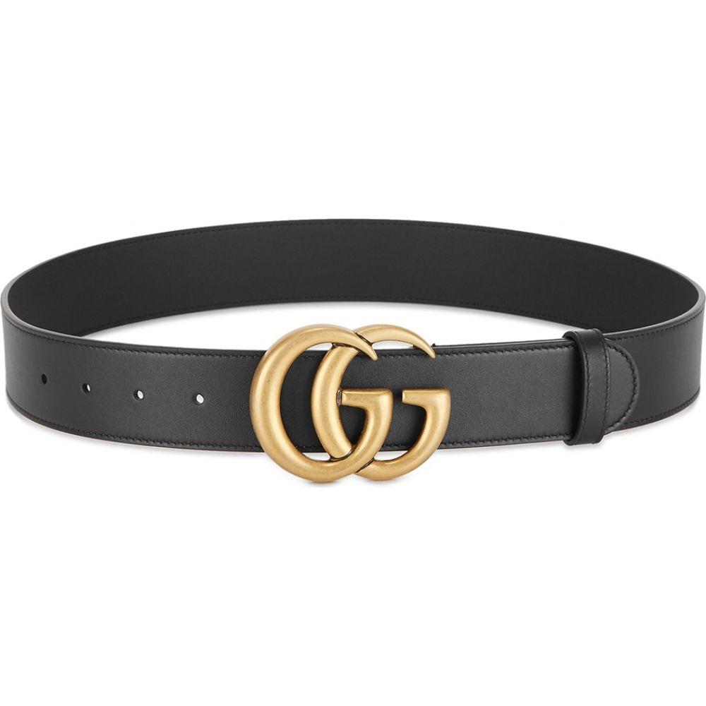 グッチ Gucci メンズ ベルト 【gg black leather belt】Black