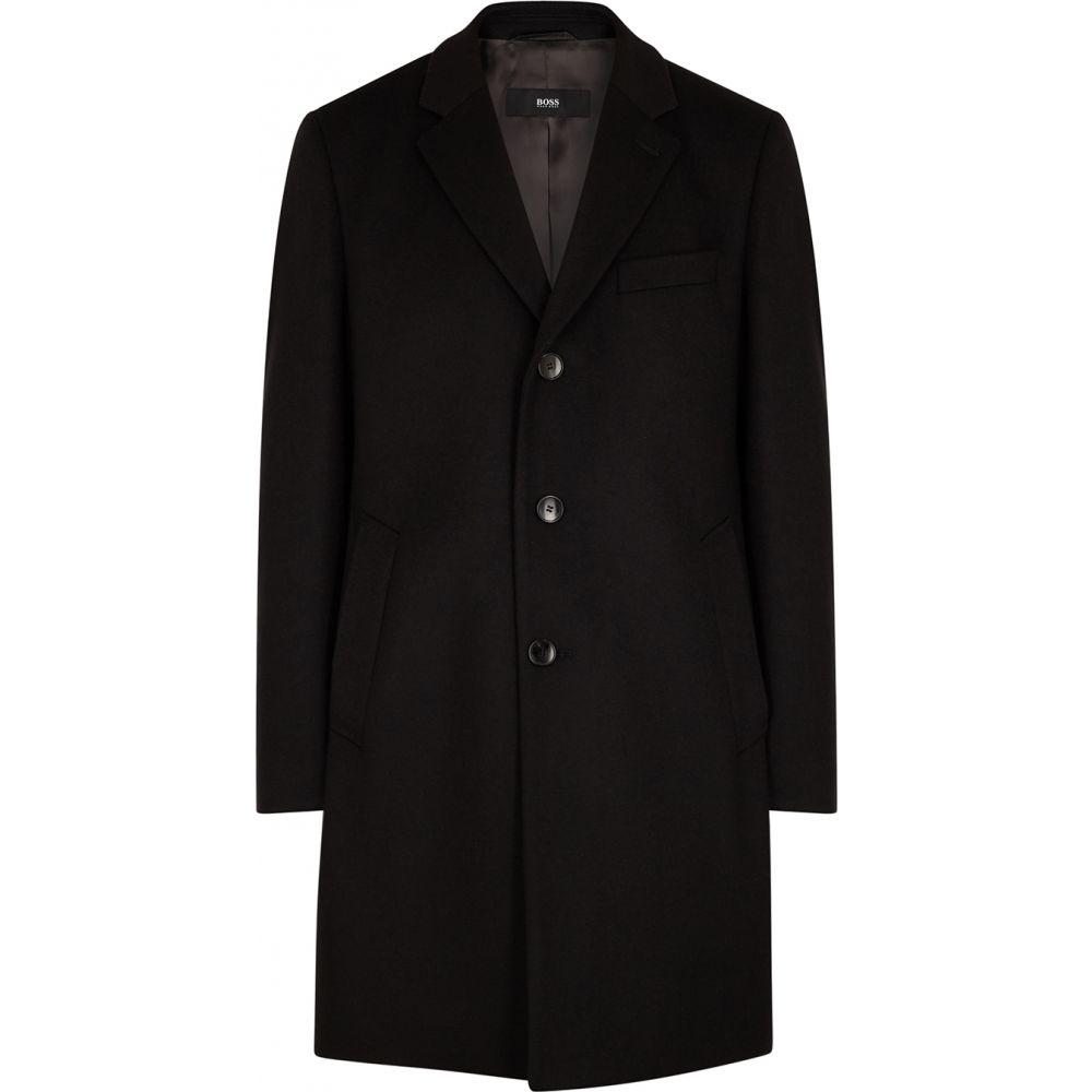 ヒューゴ ボス BOSS メンズ コート アウター【nye black wool-blend coat】Black