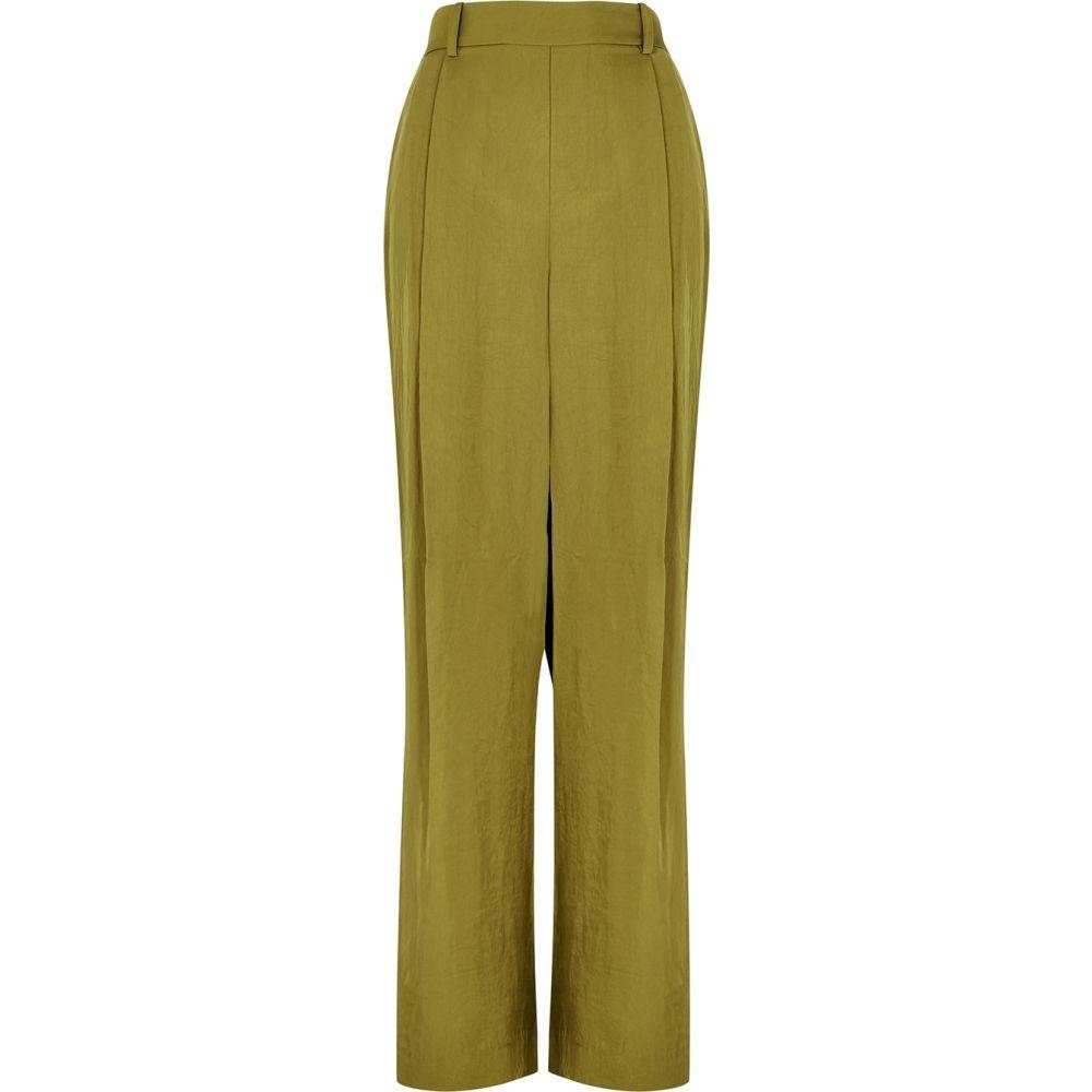 【オープニングセール】 ヴィンス Vince レディース ボトムス ボトムス・パンツ・パンツ【olive Vince wide-leg satin-twill trousers【olive】Green, ウキハグン:bd172ca1 --- experiencesar.com.ar