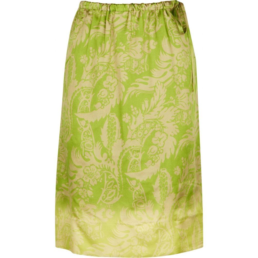 2020年新作 ドリス ヴァン Noten ノッテン Dries Van Noten ノッテン レディース スカート【scotta skirt】Green green printed satin skirt】Green, オーダーメイドジュエリーメイ:19781fec --- experiencesar.com.ar