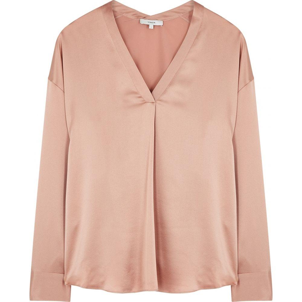 【WEB限定】 ヴィンス Vince レディース レディース ブラウス・シャツ トップス【dusky トップス【dusky pink ブラウス・シャツ silk-satin blouse】Pink, わが街とくさん店:b75fb92a --- experiencesar.com.ar