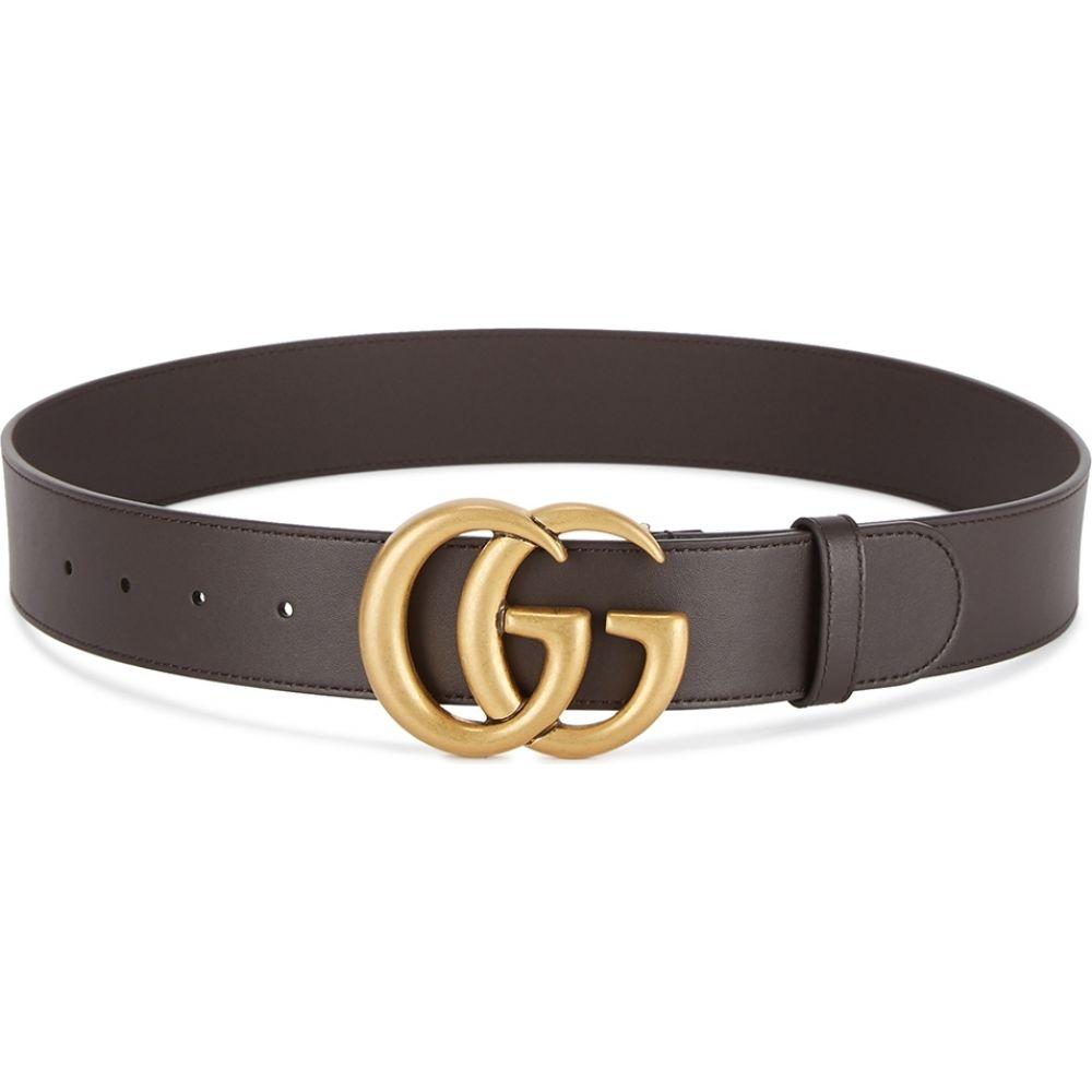 グッチ Gucci メンズ ベルト 【gg brown leather belt】Brown