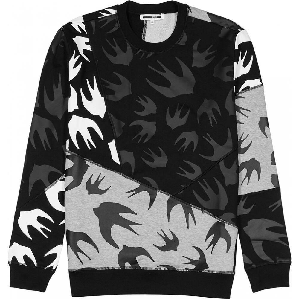 アレキサンダー マックイーン McQ Alexander McQueen メンズ スウェット・トレーナー トップス【printed cotton-jersey sweatshirt】Black