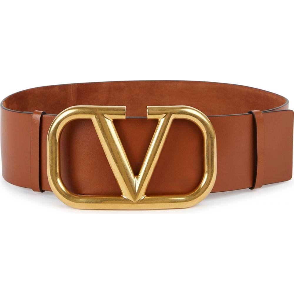 ヴァレンティノ Valentino レディース ベルト 【garavani vlogo reversible suede belt】Brown