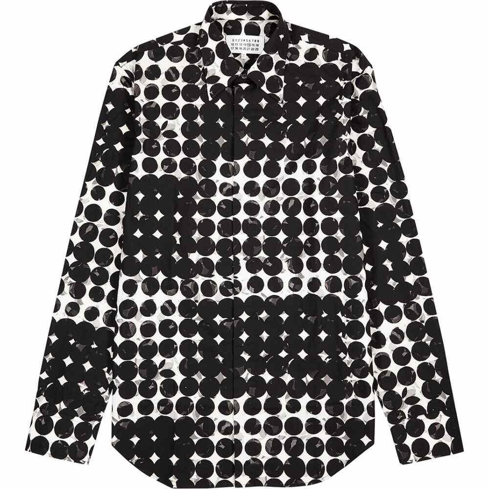 メゾン マルジェラ Maison Margiela メンズ シャツ トップス【monochrome printed cotton shirt】Black