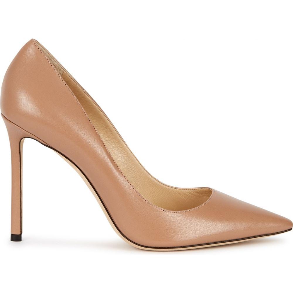 商舗 ジミー チュウ レディース シューズ 靴 パンプス サイズ交換無料 Jimmy pumps Nude leather 100 almond romy Choo 再入荷 予約販売