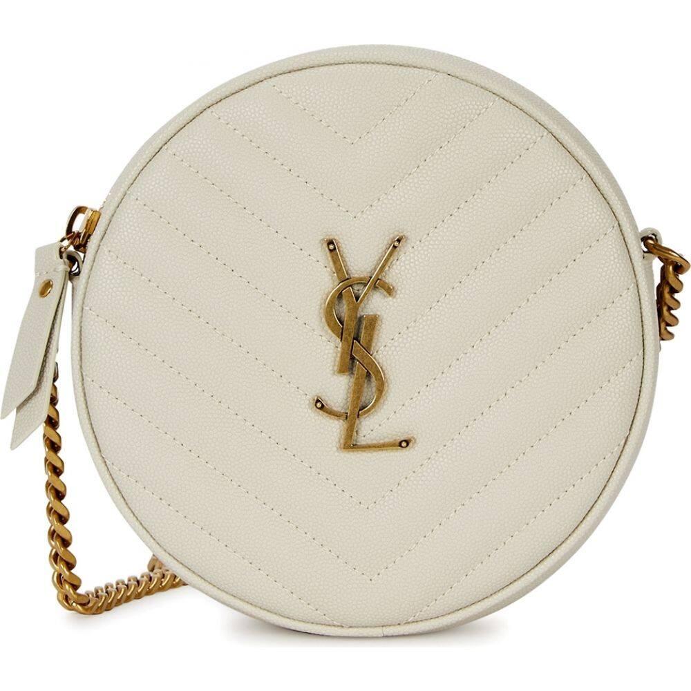 【良好品】 イヴ サンローラン Saint Laurent レディース ショルダーバッグ バッグ【jade white leather cross-body bag】White, お歳暮 4d5cc785