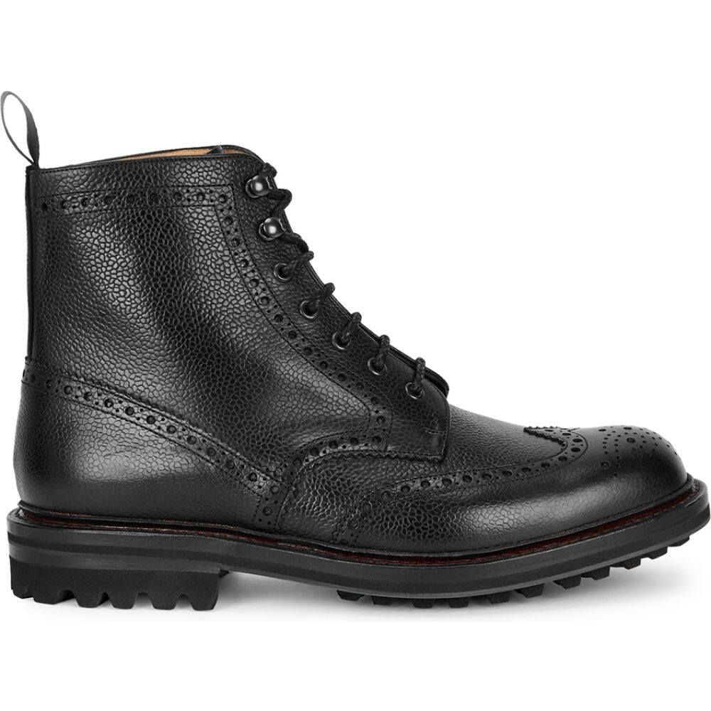 数量は多 チャーチ メンズ シューズ 靴 ブーツ サイズ交換無料 Church's boots Black leather McFarlane 蔵 ショートブーツ ankle black