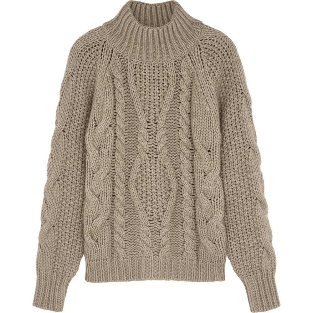 ヴィラオ Villao レディース ニット・セーター トップス【Brown Cable-Knit Wool-Blend Jumper】Natural