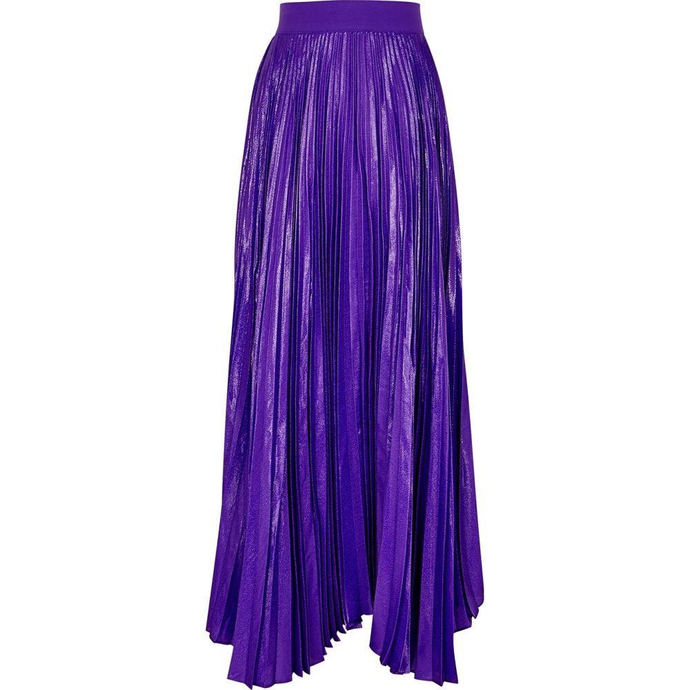 アリス アンド オリビア Alice + Olivia レディース ロング・マキシ丈スカート スカート【Katz Purple Silk-Blend Maxi Skirt】Purple
