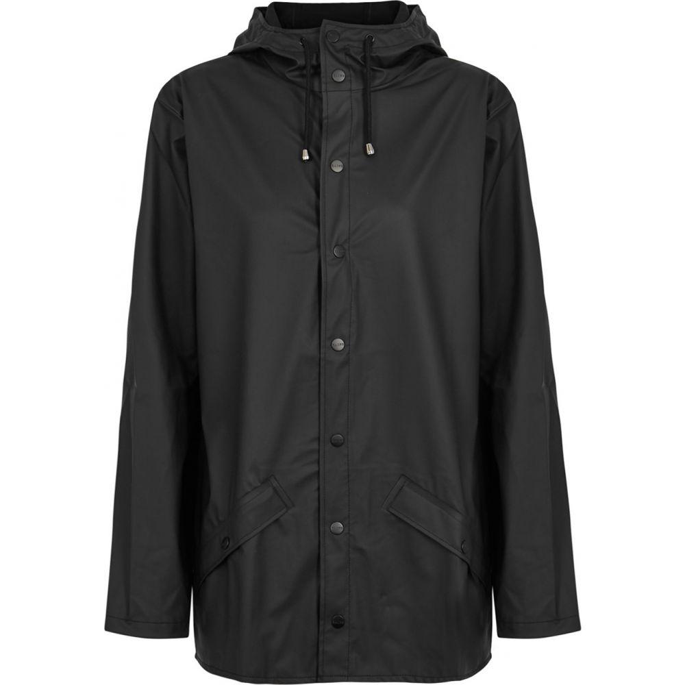 レインズ Rains レディース レインコート アウター【Black Rubberised Raincoat】Black
