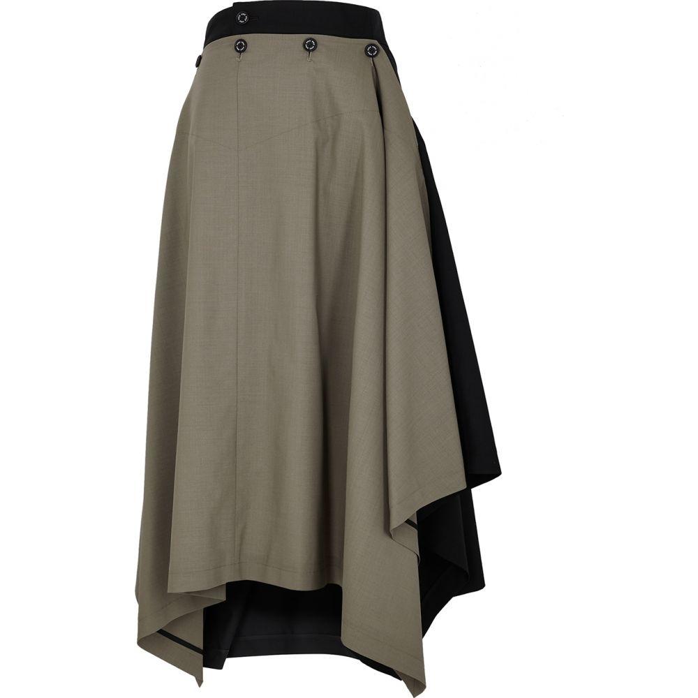 ハイク HYKE レディース ひざ丈スカート スカート【Panelled Wool-Blend Skirt】Grey