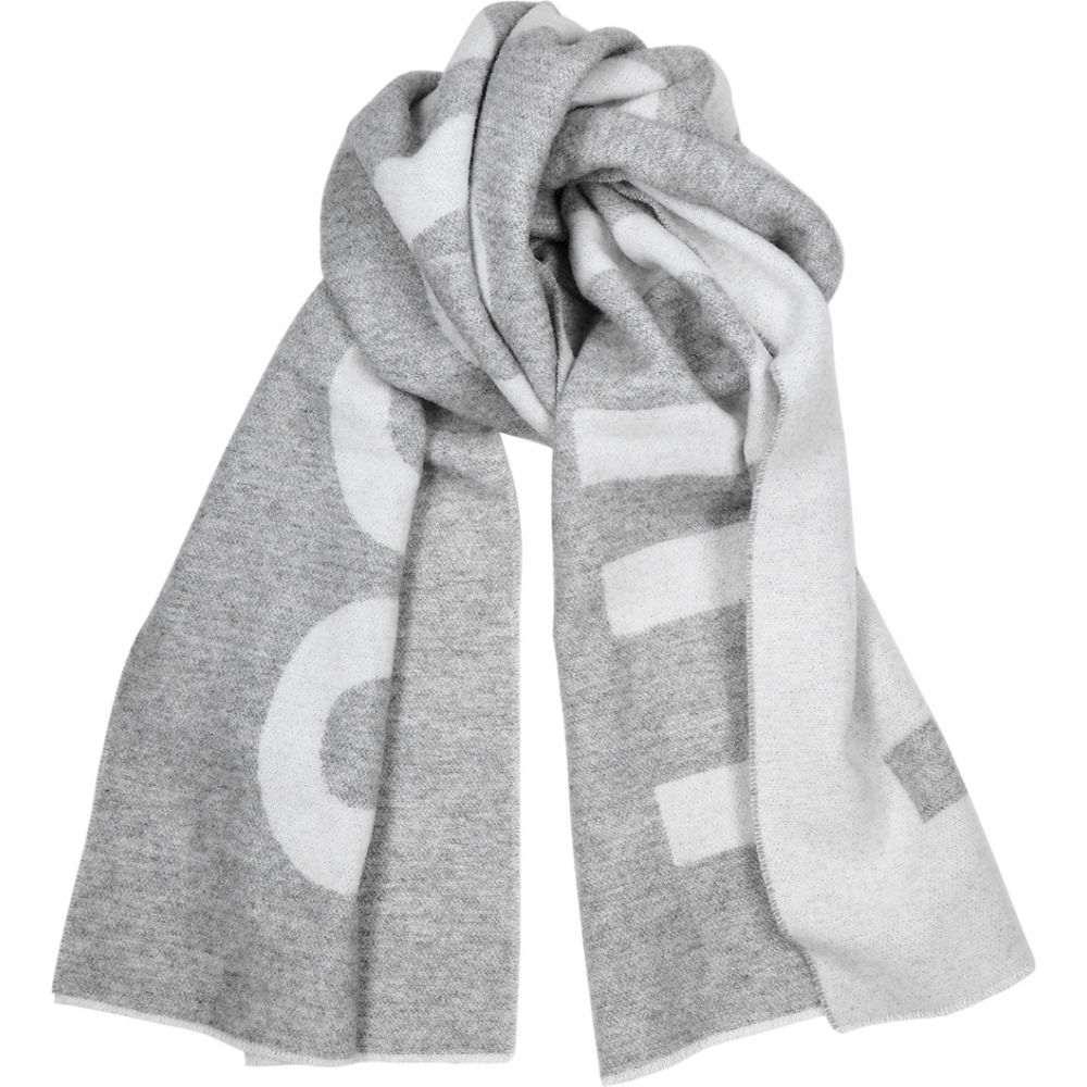 ヒューゴ ボス BOSS メンズ マフラー・スカーフ・ストール 【Grey Logo Wool-Blend Scarf】Grey