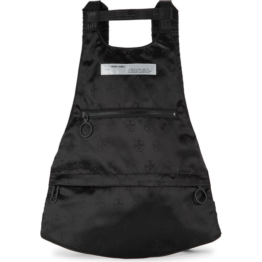 オフホワイト Off-White メンズ バックパック・リュック バッグ【Black Logo-Jacquard Satin Backpack】Black