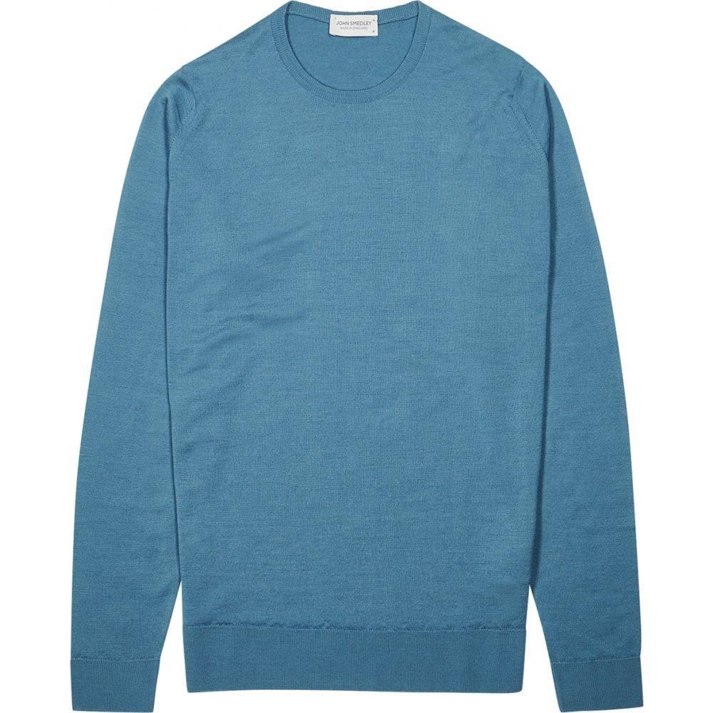 ジョンスメドレー John Smedley メンズ ニット・セーター トップス【Lundy Blue Wool Jumper】Blue
