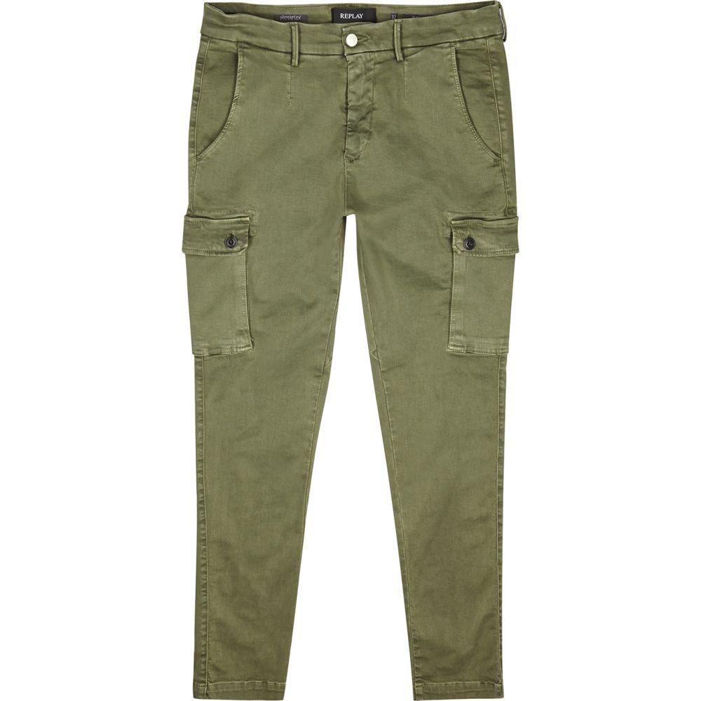 リプレイ Replay メンズ カーゴパンツ ボトムス・パンツ【Jaan Hyperflex Army Green Cargo Trousers】Green