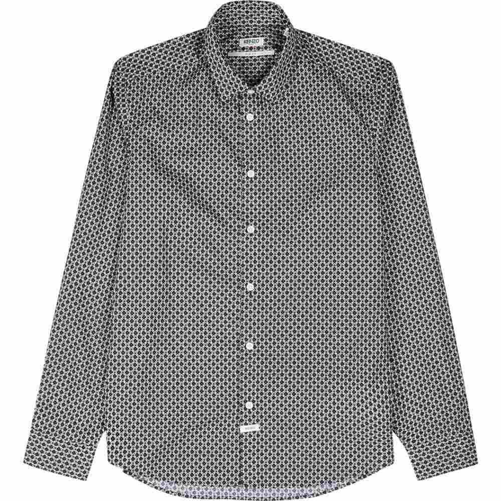 ケンゾー Kenzo メンズ シャツ トップス【Navy Tiger-Print Cotton Shirt】Blue