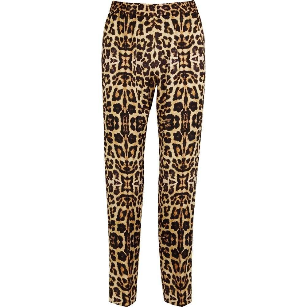 ドリス ヴァン ノッテン Dries Van Noten レディース ボトムス・パンツ 【Palmira Leopard-Print Satin Trousers】Yellow