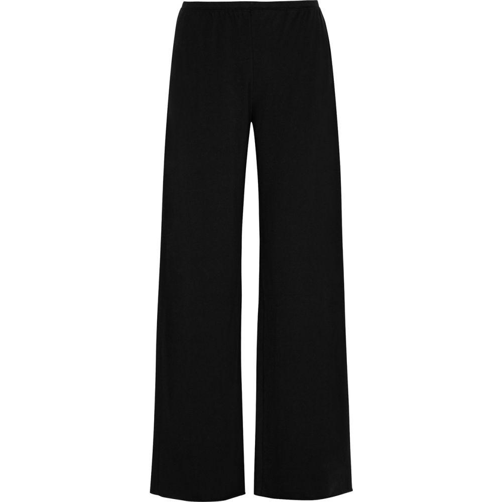 スキン Skin レディース パジャマ・ボトムのみ インナー・下着【Black Pima cotton pyjama trousers】Black
