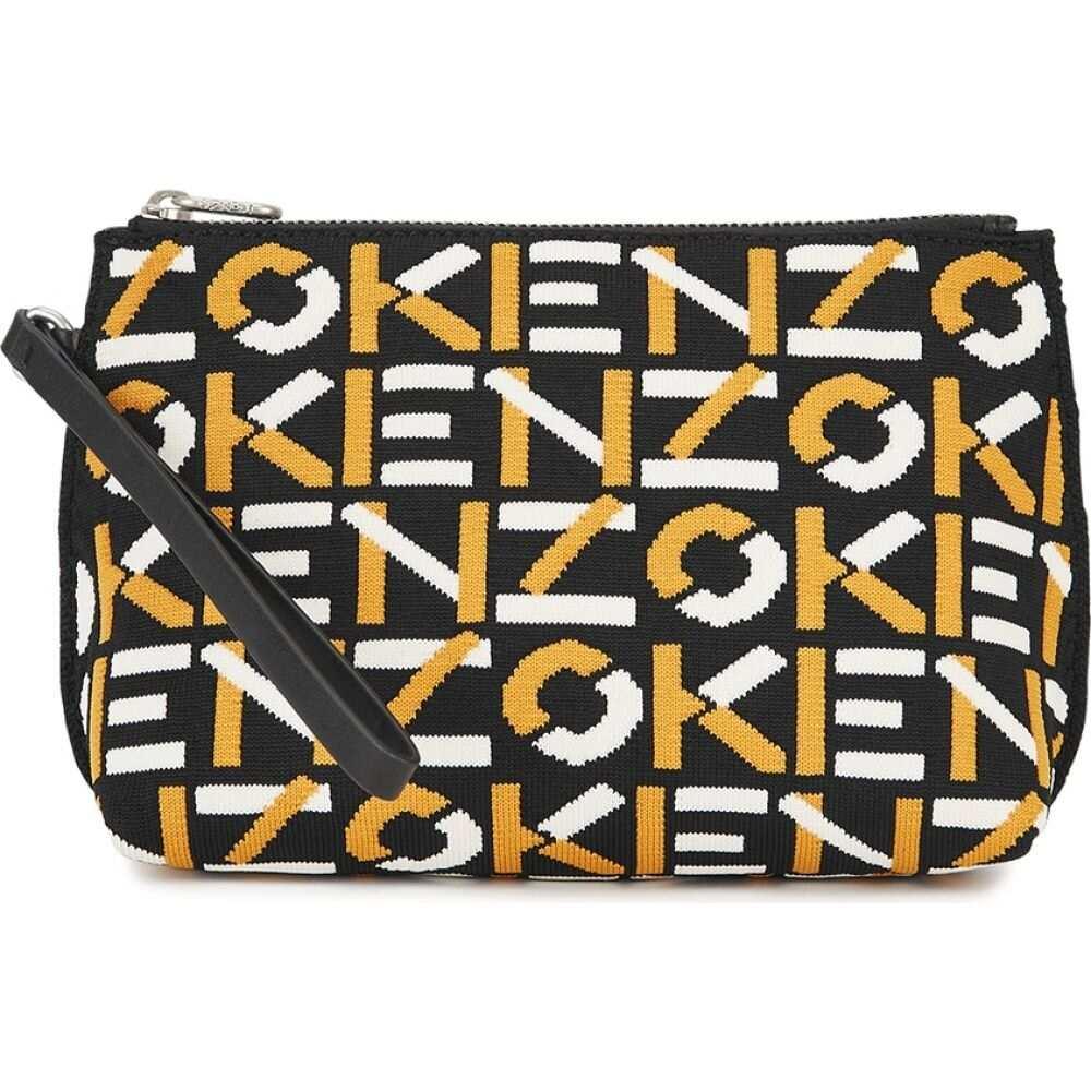 ポーチ Kenzo 【Logo-intarsia stretch-knit ケンゾー レディース pouch】Yellow