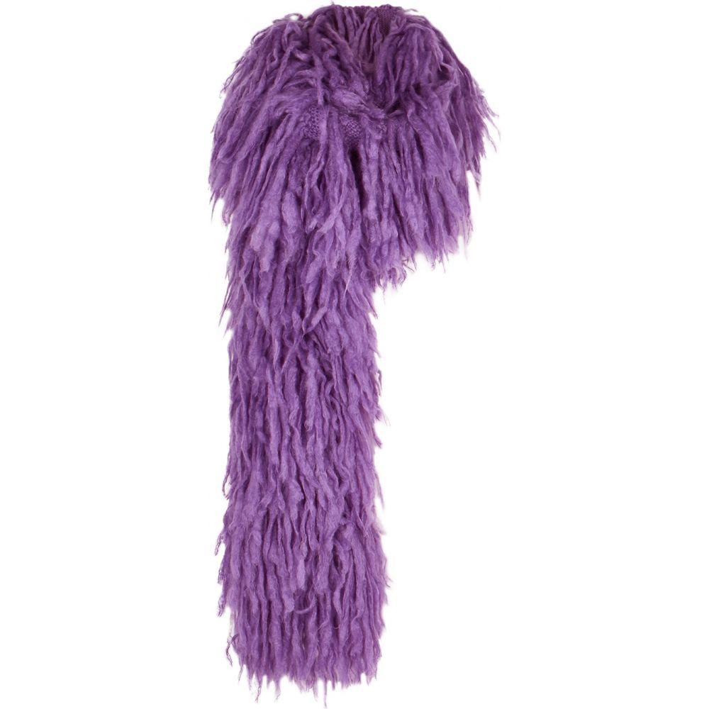 ドリス ヴァン ノッテン Dries Van Noten レディース マフラー・スカーフ・ストール 【Minouch lilac tasseled mohair-blend scarf】Purple