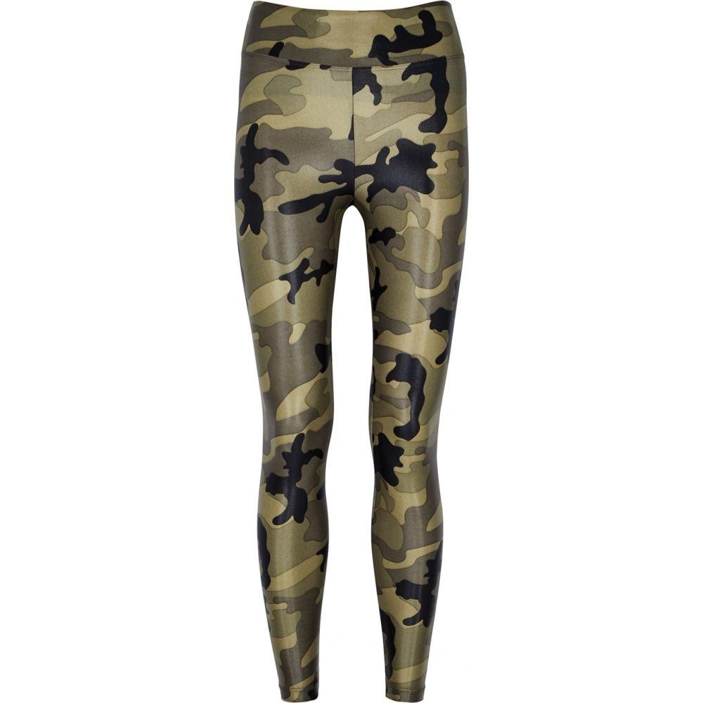 コラール Koral Activewear レディース スパッツ・レギンス インナー・下着【Lustrous Cropped Camouflage Leggings】Green