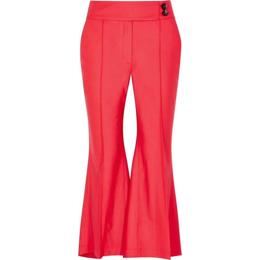 ユードン チョイ Eudon Choi レディース クロップド ボトムス・パンツ【Postell Coral Flared-Leg Trousers】Pink