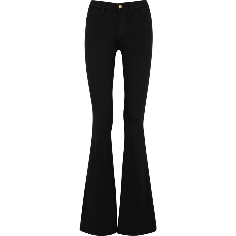 フレーム Frame レディース ジーンズ・デニム ボトムス・パンツ【Le High Flare Black Flared Jeans】Black