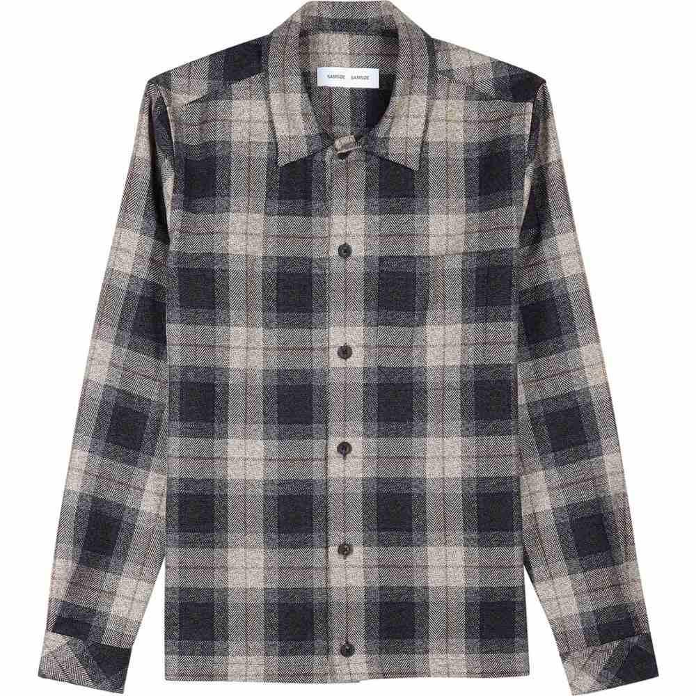 サムソエ&サムソエ Samsoe & Samsoe メンズ ジャケット オーバーシャツ アウター【Ruffo Checked Cotton Overshirt】Blue