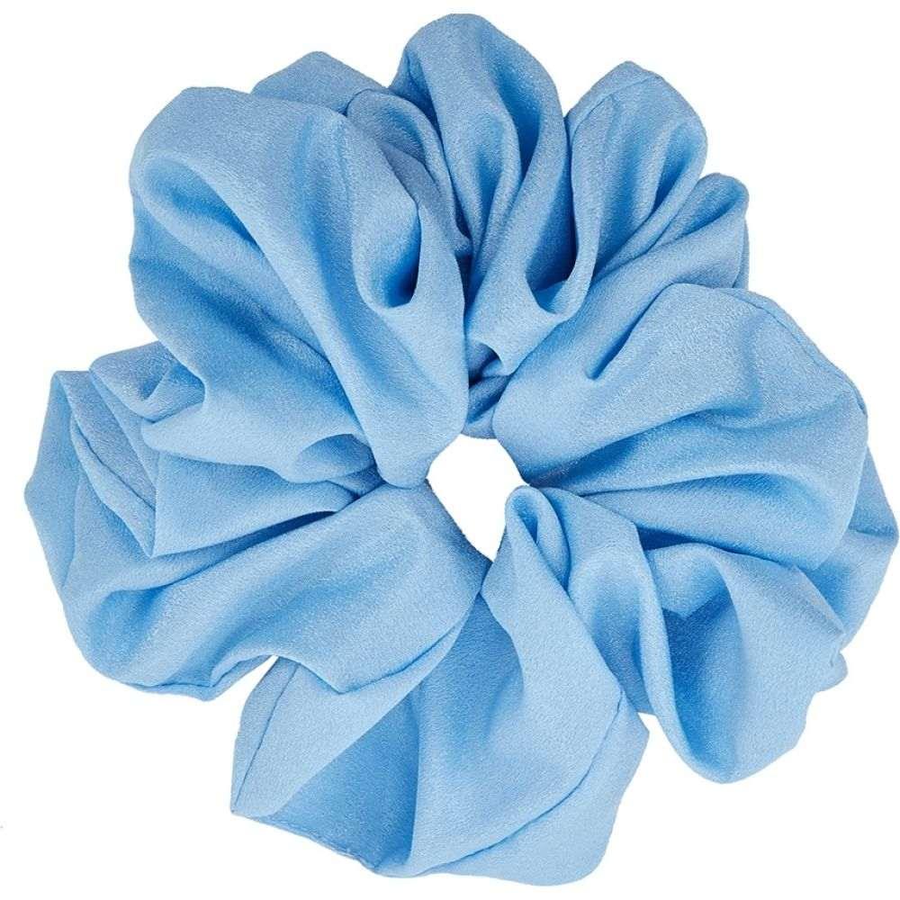バレット スタジオ Valet Studio レディース ヘアアクセサリー シュシュ【Cyndi Light Blue Satin Scrunchie】Blue