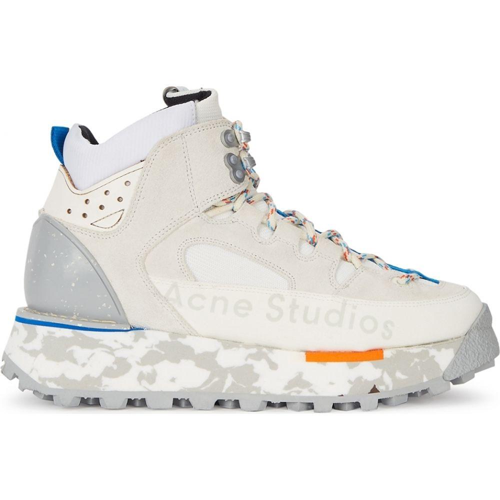 アクネ ストゥディオズ Acne Studios レディース スニーカー シューズ・靴【Panelled Suede Hi-Top Sneakers】White