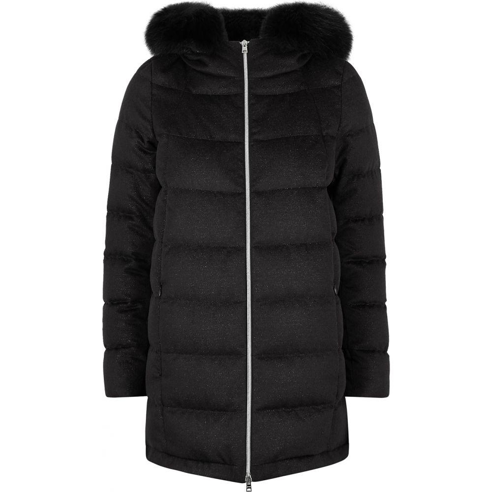 ヘルノ Herno レディース コート アウター【Black Quilted Cashmere-Blend Coat】Black