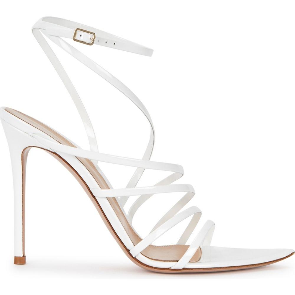 ジャンヴィト ロッシ Gianvito Rossi レディース サンダル・ミュール シューズ・靴【Eclypse 105 White Patent Leather Sandals】White