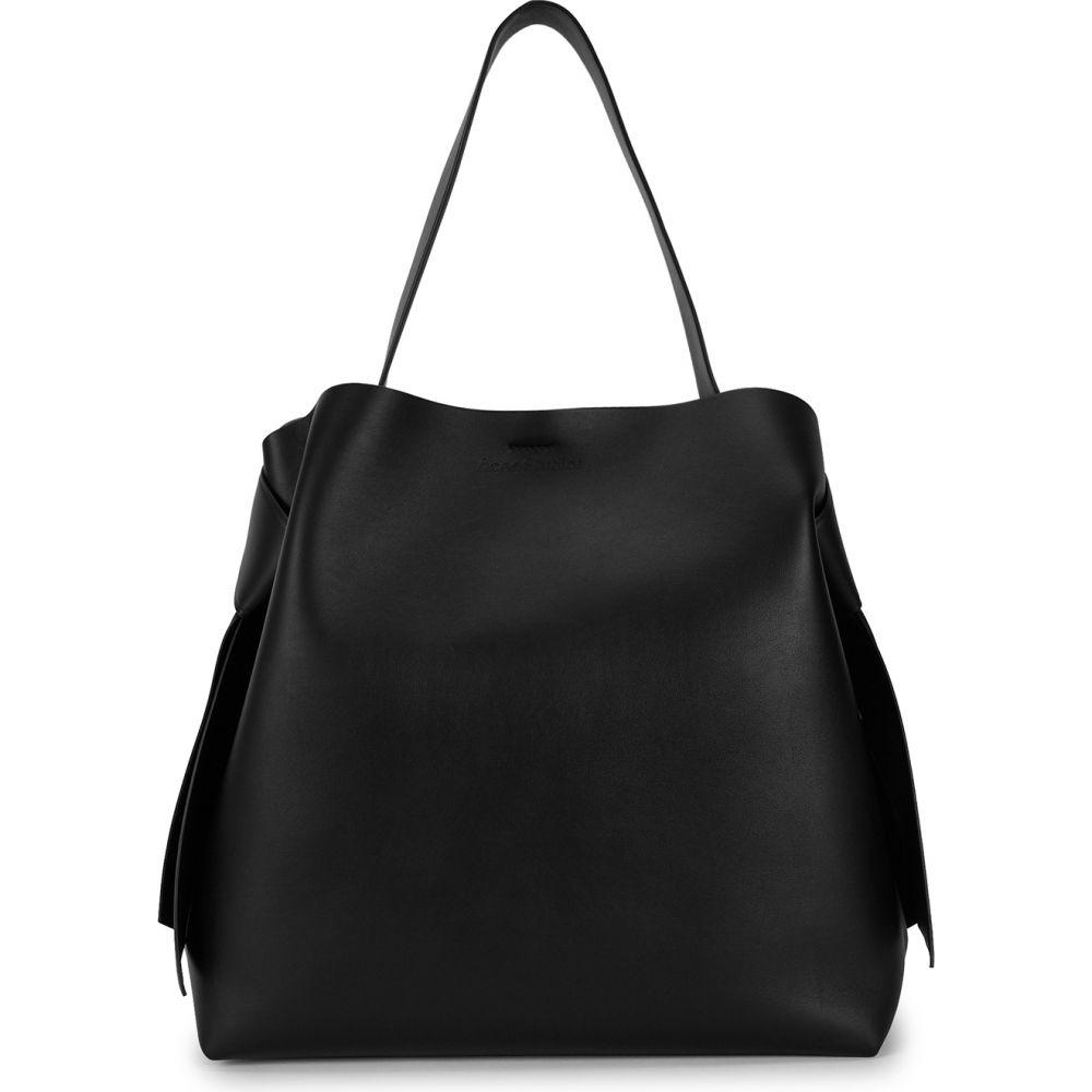 アクネ ストゥディオズ レディース バッグ トートバッグ サイズ交換無料 Acne Leather Maxi Tote Black Studios Musubi サービス 全国一律送料無料