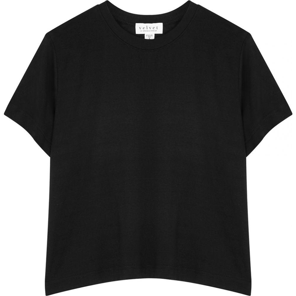 公式 ベルベット Velvet グラハム&スペンサー Velvet ベルベット by Graham & Spencer レディース Tシャツ トップス【Sky トップス【Sky Black Stretch-Jersey T-Shirt】Black, Shoe Quest:528e8e5d --- promotime.lt