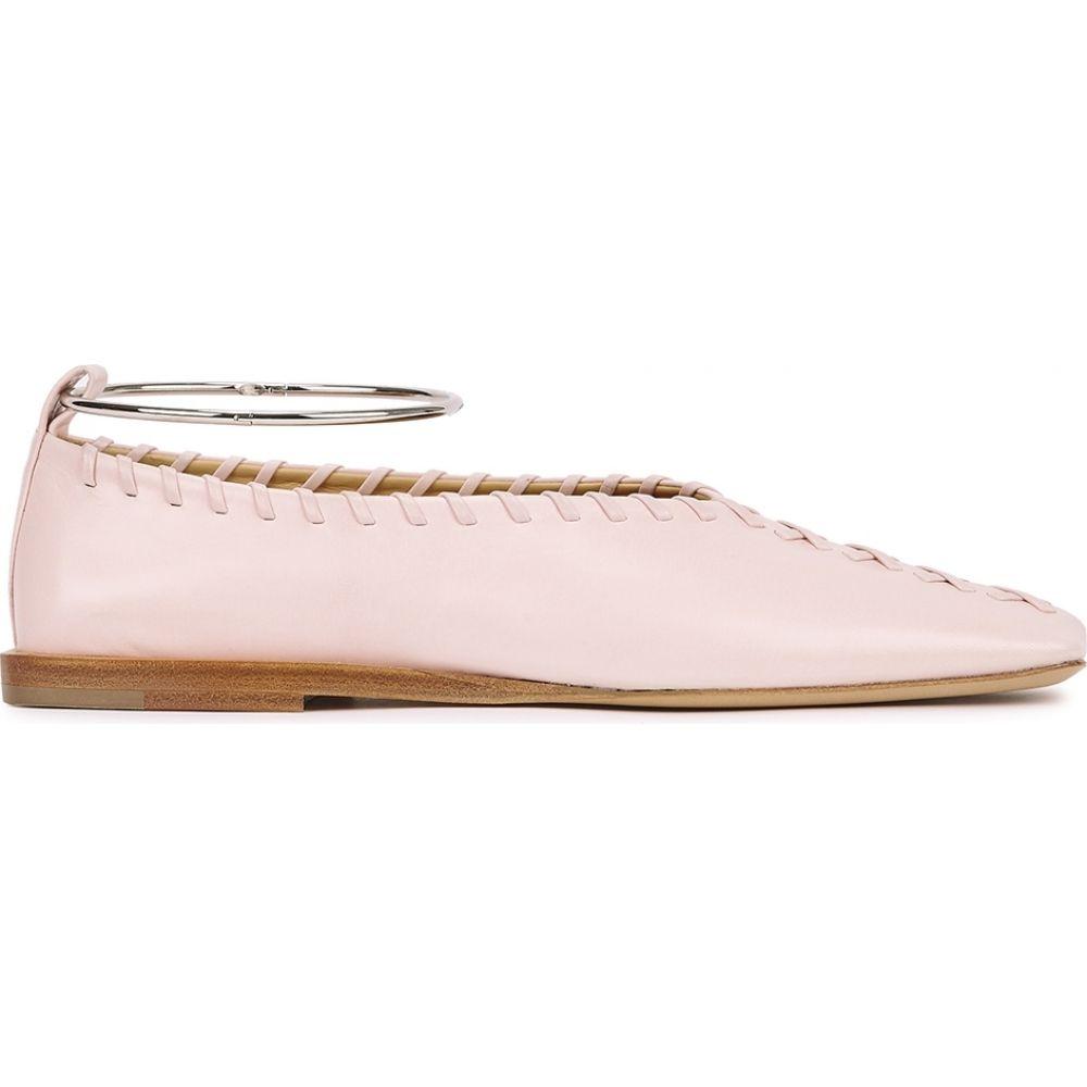 注目の ジル サンダー Jil Sander レディース スリッポン・フラット シューズ・靴【Light Pink Whipstitched Leather Flats】Pink, ok-bungu 創業明治5年 fadeb960