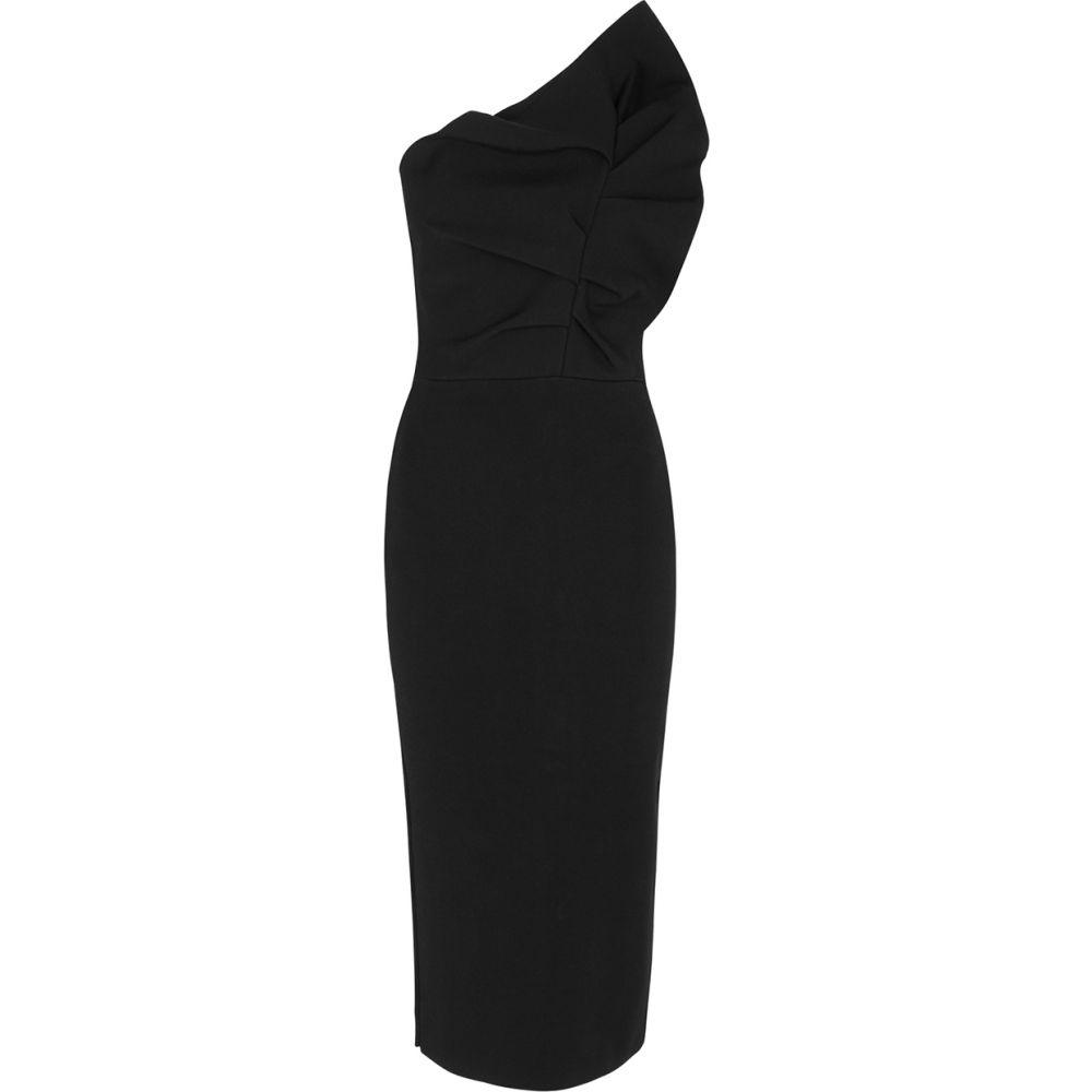 <title>ローラン ムレ レディース ワンピース ドレス サイズ交換無料 Roland 豪華な Mouret ワンショルダー ミドル丈 Raven One-Shoulder Stretch-Knit Midi Dress Black</title>