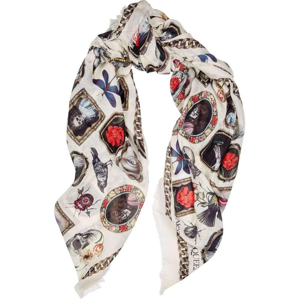 最安値に挑戦! アレキサンダー マックイーン Alexander McQueen レディース McQueen マフラー modal-blend・スカーフ・ストール printed【cameo and curiosities printed modal-blend scarf】Natural, サウスコースト:a3629fd8 --- superbirkin.com