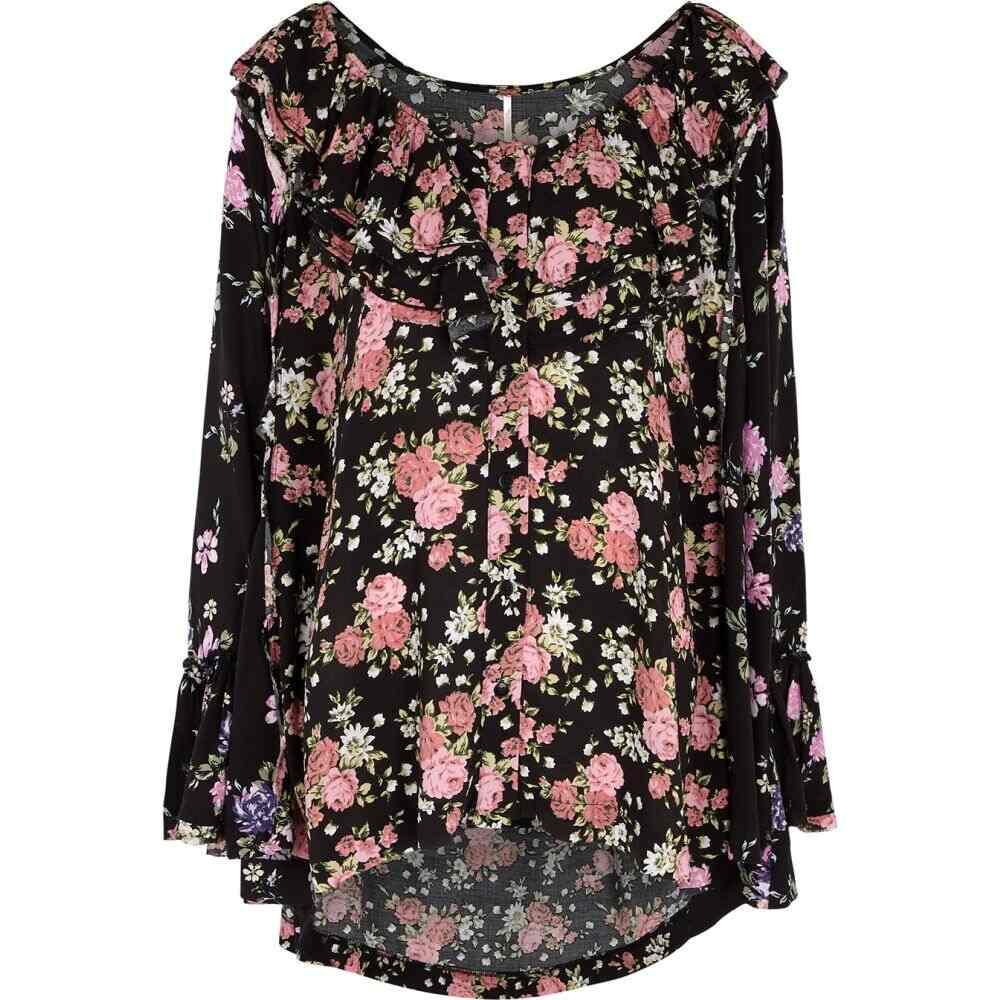 フリーピープル Free People レディース チュニック トップス【black floral-print tunic】Multi
