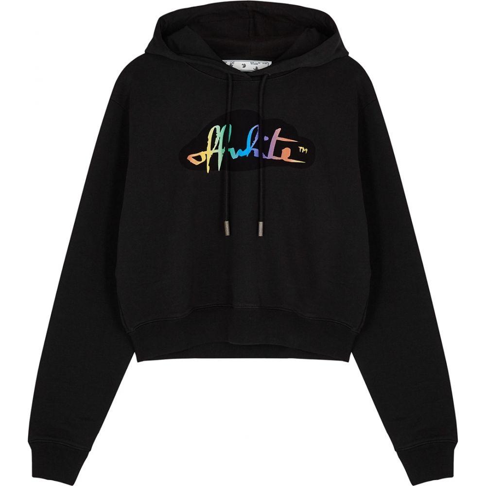 【国内即発送】 オフホワイト Off-White レディース パーカー スウェット トップス オフホワイト スウェット【black logo パーカー hooded cotton sweatshirt】Black, あきし野 sleeping-shop:4a28d3fc --- sturmhofman.nl