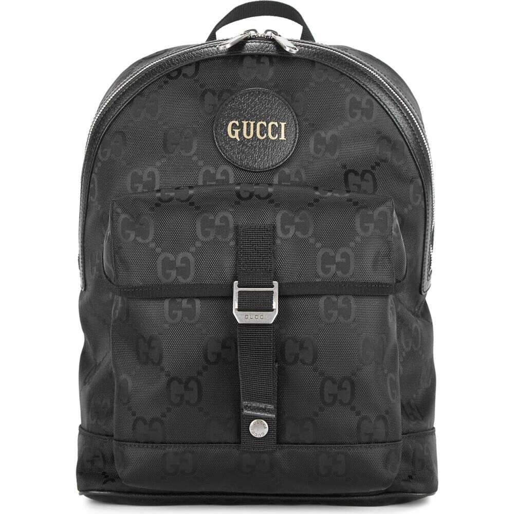贅沢屋の グッチ Gucci the メンズ バックパック・リュック グッチ バッグ【off Gucci the grid gg-jacquard nylon backpack】Black, YUKAWAのWEB通販:dd6b1e6f --- aupair-agency.com.ua